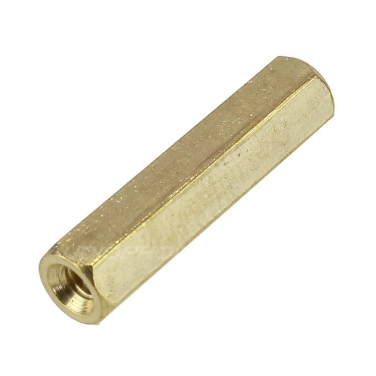 Brass Spacers Female / Female M3x8mm (x10)
