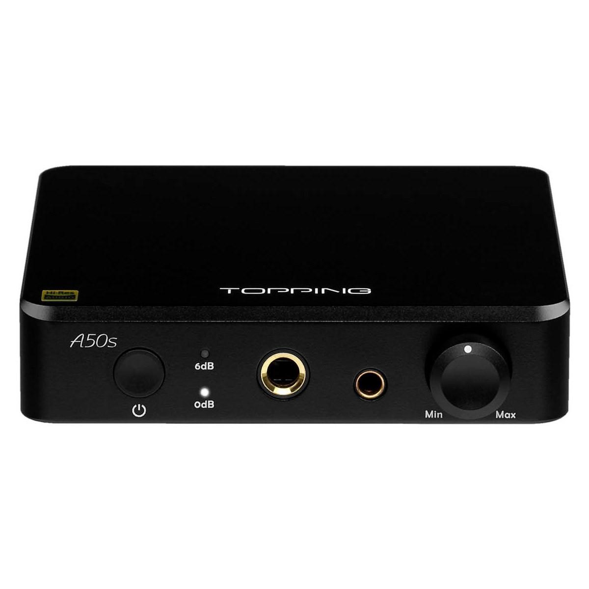 TOPPING A50S Balanced Headphone Amplifier Preamplifier Black