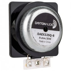 DAYTON AUDIO DAEX32SQ-8 Haut-Parleur Vibreur Exciter 20W 8Ω Ø32mm