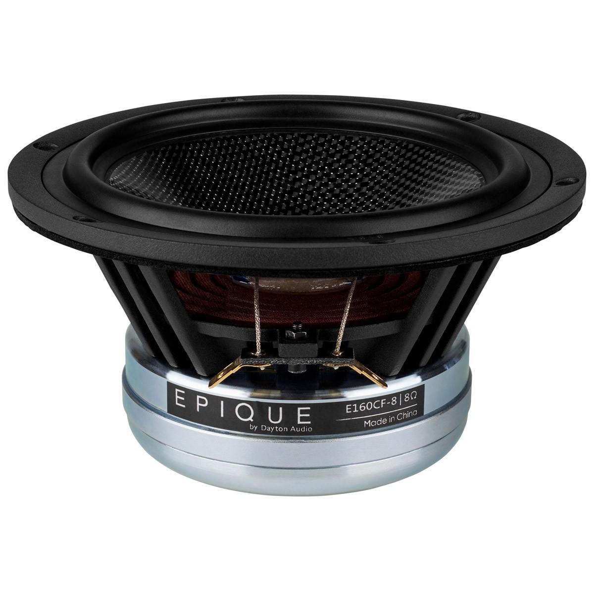 DAYTON AUDIO EPIQUE E160CF-8 Speaker Driver Woofer Carbon Fiber 100W 8 Ohm 89dB 50Hz - 8000Hz Ø13.3cm
