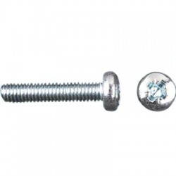 TCBZ screw convex head Cross-shaped steel M3x10mm (x50)
