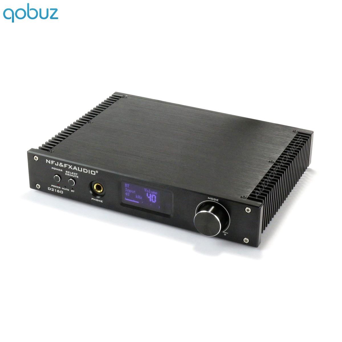 FX-AUDIO D2160 Amplificateur FDA Bluetooth 5 Class D TAS5614 2x125W 4 Ohms Noir