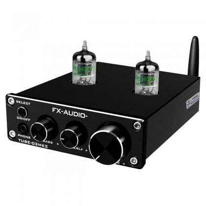 FX-AUDIO TUBE-03 MKII Préamplificateur à Tubes Stéréo NE5532 / JRC4556 Bluetooth 5.0 Noir