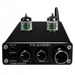 FX-AUDIO TUBE-03 MKII Stereo Tube Preamplifier NE5532 / JRC4556 Bluetooth 5.0 Black