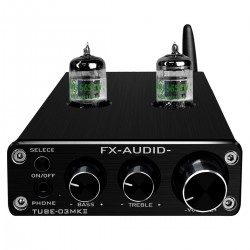 FX-AUDIO TUBE-03 MKII Stereo Tube Preamplifier NE5532 / JRC4556 Bluetooth 5.0 Black
