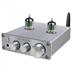 FX-AUDIO TUBE-03 MKII Préamplificateur à Tubes Stéréo 5654 Bluetooth 5.0 Argent