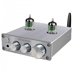 FX-AUDIO TUBE-03 MKII Stereo Tube Preamplifier NE5532 / JRC4556 Bluetooth 5.0 Silver