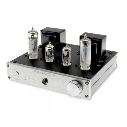 FX-AUDIO TUBE-P1 Valves Amplifier with Phono MM Input 6J1 + 6P1 Stereo Silver
