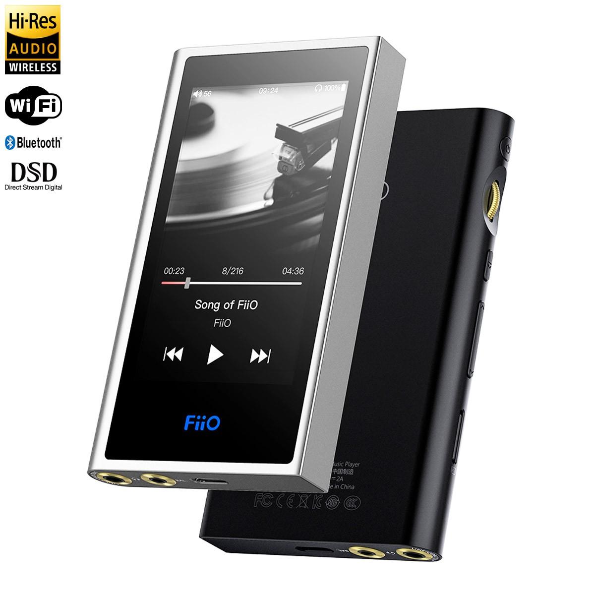 FIIO M9 Digital Audio Player DAP 2x AK4490EN WiFi Bluetooth aptX-HD LDAC HWA Balanced 32bit 192kHz DSD128 Black