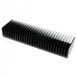 Radiateur Dissipateur Thermique Anodisé 300x85x50mm Noir