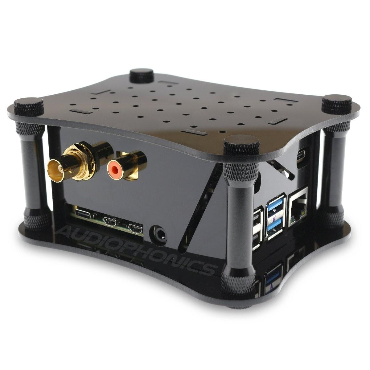 ALLO DIGIONE SIGNATURE Lecteur réseau Raspberry Pi 4 DigiOne Signature DietPi pré-installé Noir