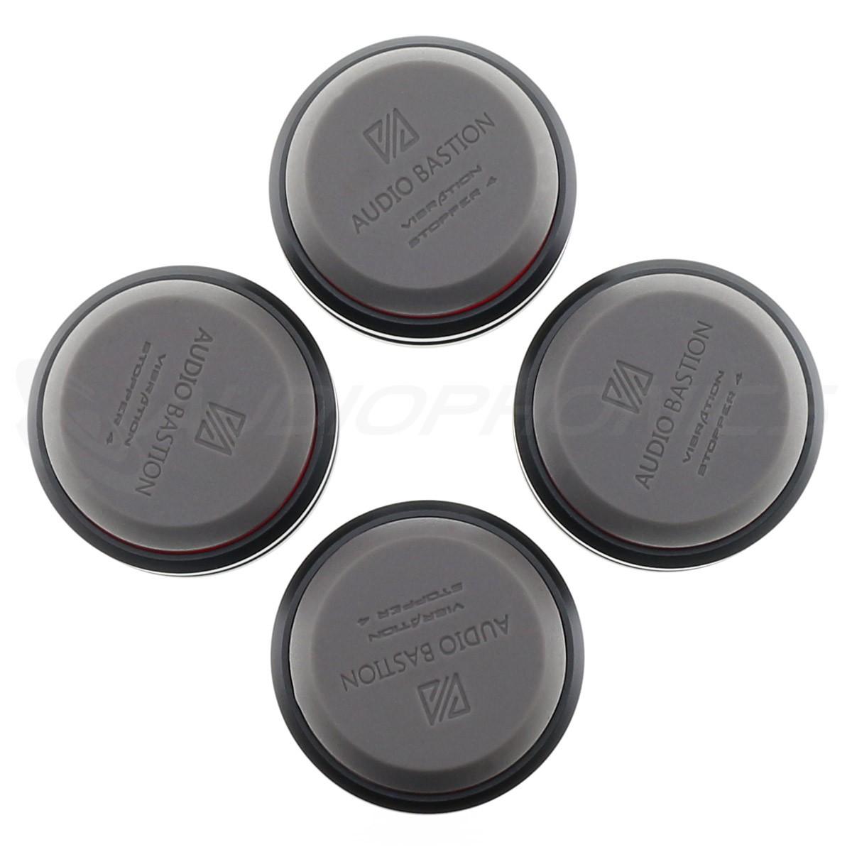 AUDIO BASTION REDLINE DAMPER PLUS+ Absorbeur de Vibrations Aluminium / Silicone 49 x 20mm (Set x4)