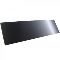 HIFI 2000 Facade aluminium 10mm Noir pour boitier 2U