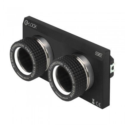 BLOCK AUDIO C-LOCK SE DUPLEX Dual Schuko Wall Plug NCF with Fastening Connection System