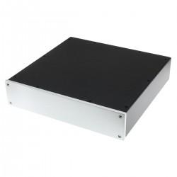 Boîtier DIY Aluminium 320x308x70mm Façade Argent
