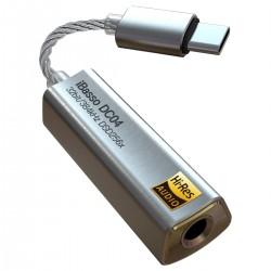 IBASSO DC04 Adaptateur Amplificateur Casque DAC Symétrique USB-C Hi-Res 2x CS43131 32bit 384kHz DSD256 Argent