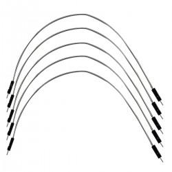 Câble I2S 2.54mm Mâle / Mâle Plaqué Argent 15cm (x5)
