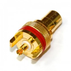 ELECAUDIO ER-103 Gold Plated RCA inlet PTFE isolated Red (Unit)
