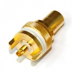 ELECAUDIO ER-103 Gold Plated RCA inlet PTFE isolated White (Unit)