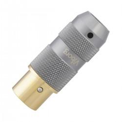 VIBORG XF-202G Female XLR Connector 3 Poles Gold / Silver Plated Pure Copper Ø11mm Black (Unit)