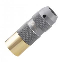 VIBORG XM-202G Male XLR Connector 3 Poles Gold / Silver Plated Pure Copper Ø11mm Black (Unit)