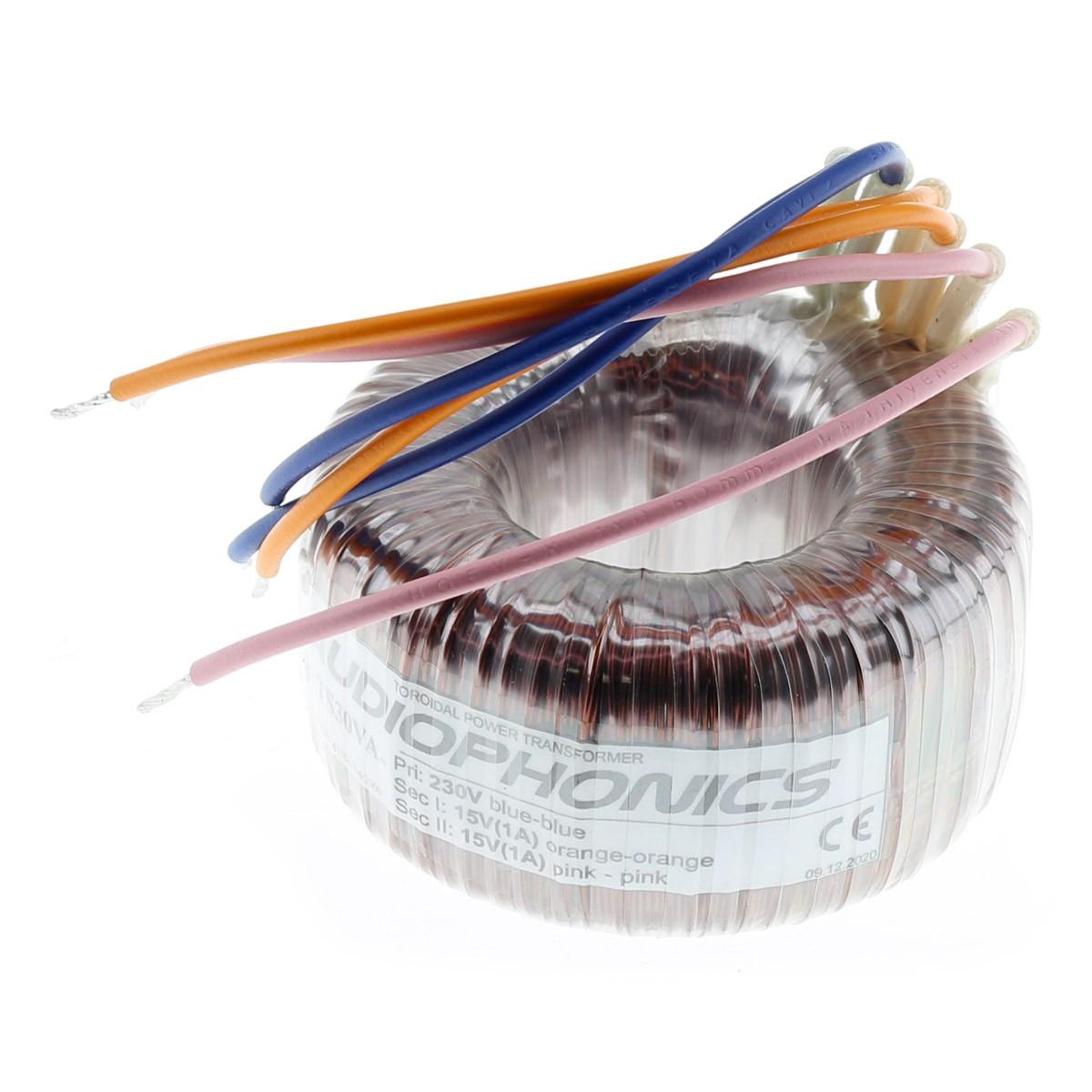 Transformateur Torique 30VA 2x15V