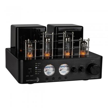 Dayton Audio HTA100BT Hybrid 2 Tube Amplifier SPDIF USB BT5.0 Phono 100W