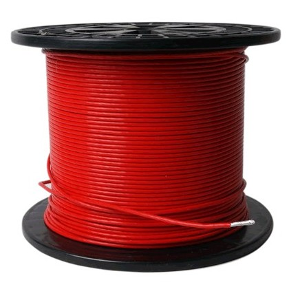 ELECAUDIO FC116TS Fil de Câblage Cuivre/Argent FEP 1.6mm² (Rouge)