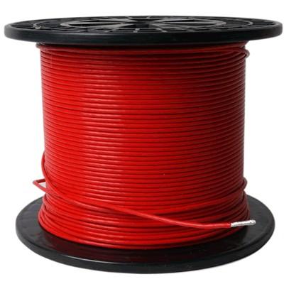 ELECAUDIO FC116TS Fil de Câblage Cuivre / Argent FEP 1.6mm² (Rouge)