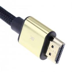 Câble HDMI 2.1 8K 60Hz 48Gbps HDR eARC ALLM Dolby 1.5m