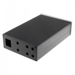 Boîtier DIY Amplificateur Aluminium 260x170x70mm Noir / Argent