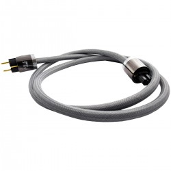 LUDIC POLARIS Câble secteur Schuko IEC C15 Cuivre UP-OCC plaqué Or 1m