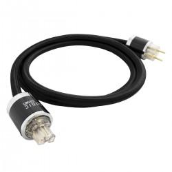 LUDIC AESIR Câble d'Alimentation Schuko IEC C15 Cuivre UP-OCC plaqué Or 2m