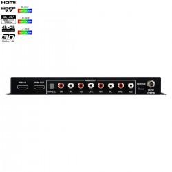 CYP CPLUS-V11PE8 Extracteur Audio HDMI 4K60 LPCM 7.1 avec EDID et Contrôle RS-232