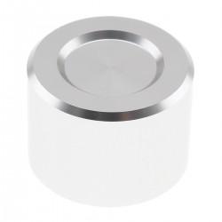 Bouton Aluminium Axe Méplat 25mm Ø6mm Argent