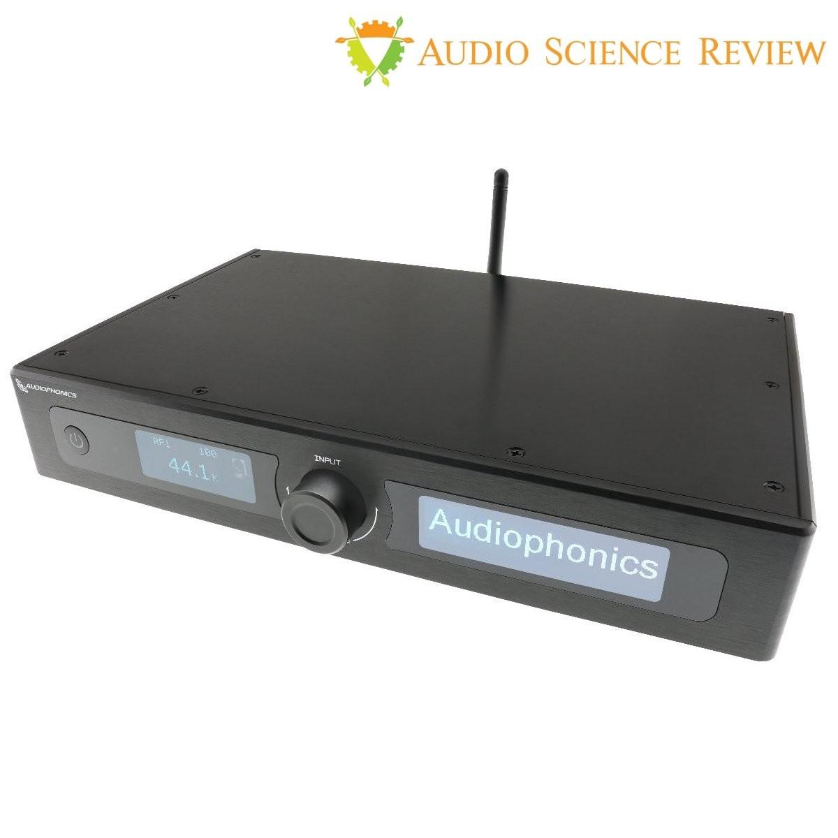 AUDIOPHONICS EVO-SABRE Monté DAC Symétrique 2xES9038Q2M & Lecteur Réseau pour Raspberry Pi 4