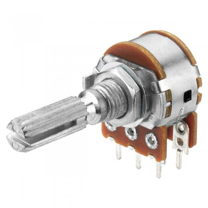 Potentiomètre Stéréo VRB-101S100 100k ohm point central