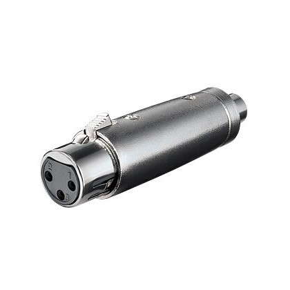 Adapter XLR female to RCA female metal body