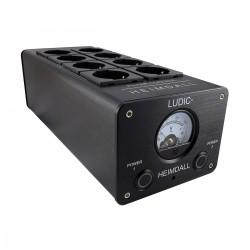 LUDIC HEIMDALL Distributeur Secteur Filtré 8 Prises Schuko Aluminium Noir