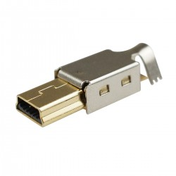 Male Micro USB Type B Connector DIY with Shell Gold Plated