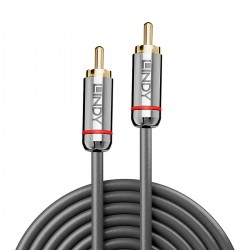 LINDY CROMO LINE Interconnect Cable RCA-RCA OFC Copper Gold Plated 0.5m (Pair)