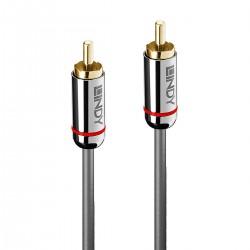 LINDY CROMO LINE Câble de Modulation RCA-RCA Cuivre OFC Plaqué Or 0.5m (La paire)