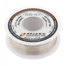 OYAIDE SS-47 Soldering Tin Silver 4.7% Copper 1.7% Flux 3.3% Ø1mm 50g