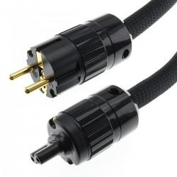 AUDIOPHONICS STEALTH Câble Secteur Schuko C7 Cuivre OFC Blindé 3x3.5mm² 1.5m