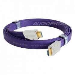 KAIBOER KBEH-L2.0 Câble HDMI 2.0 ULTRA HD 2160p 18Gbps 4K plaqué Argent 2m