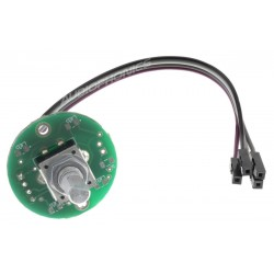 Rotary Digital Encoder 24 Steps Push Button Serrated Axis Soldered
