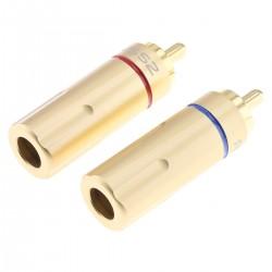 Connecteurs RCA Plaqué Or Ø6mm (La paire)