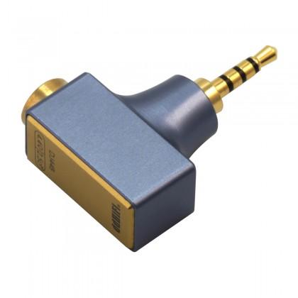 DD DJ44B MKII Female Jack 4.4mm to Male Jack 2.5mm Balanced Adapter Gold Plated