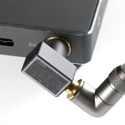 DD DJ44C MKII Adaptateur Jack 4.4mm Symétrique Femelle vers Jack 3.5mm Asymétrique Mâle Plaqué Or