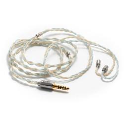 DD BC120B Câble Casque Jack 4.4mm vers MMCX Symétrique Cuivre OCC Plaqué Argent 1.2m